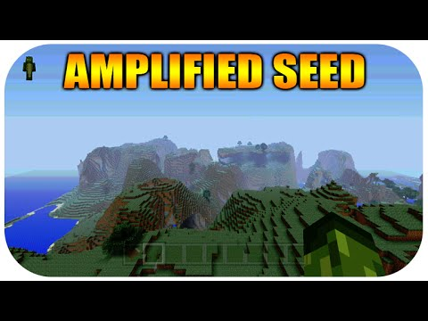 ★Minecraft Xbox 360 + PS3 Amplified Seed Showcase - Extremely High Jungle Biome + Hills & Witch Hut★