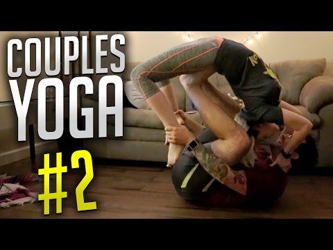 SEXY YOGA POSES | Couples Yoga Challenge #2 thumbnail