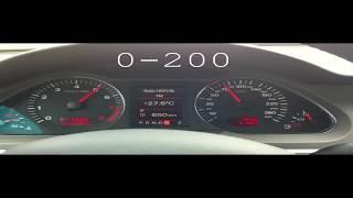 Audi A6 3.2 FSI Quattro accelerating