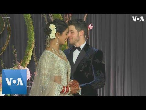 Priyanka Chopra, Nick Jonas Host Wedding Reception in New Delhi