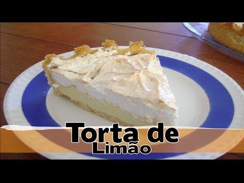 Torta de Limão ! Cobertura de suspiro!
