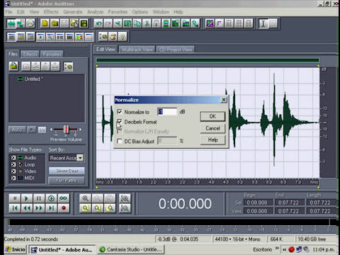 una manera de como grabar en adobe audition 1.5