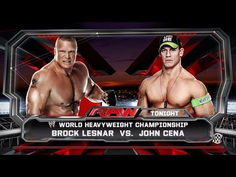 WWE 2K15 Next Gen Gameplay - John Cena vs Brock Lesnar | World Heavyweight Championship Title Match