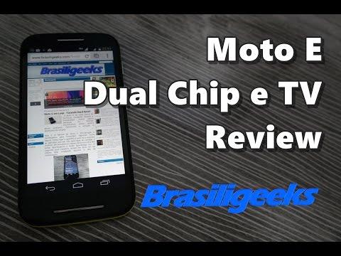 Motorola Moto E - Dual chip e TV digital - Análise e Testes