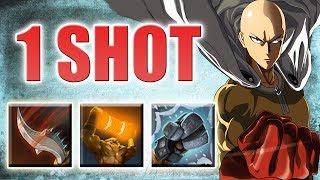 One Punch Man in DotA 2 [4x Damage Walrus PUNCH! + Jinada] Ability Draft