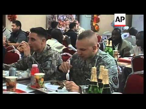 WRAP US troops in Iraq and Afghanistan celebrate Thanksgiving