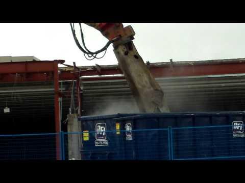 Demolition of An Old Walmart....Big Boys Toys