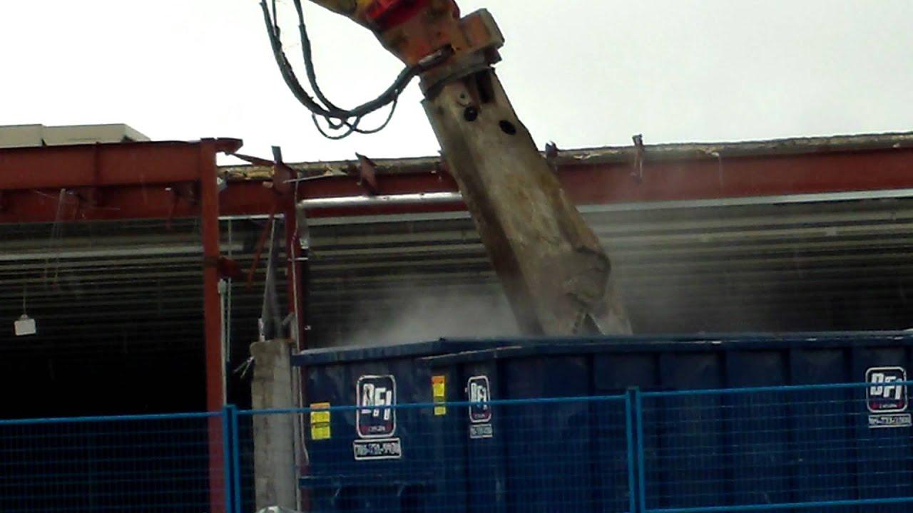 Walmart Toys For Big Boys : Demolition of an old walmart big boys toys youtube
