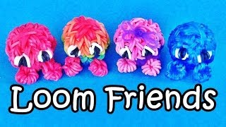 "Rainbow Loom Charms: 3D Fuzzies /  ""Loom Friends"" Loom Bands Fun Crazy Loom How To Make"