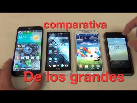Comparativa. LG Optimus G Pro. Galaxy S4. HTC One. iPhone 5