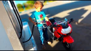 Bike Wash for Kids / Funny Kid Pretend Play Outdoor Activities