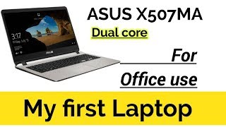 My first laptop   Asus X507MA laptop in low budget for office work   #asuslaptop