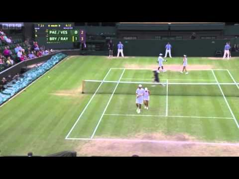 Raymond/Bryan vs. Vesnina/Paes - 2012 Wimbledon mixed doubles final highlights
