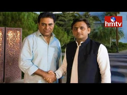Akhilesh Yadav Reaches Begumpet Airport | Federal Front | Telugu News | Hmtv