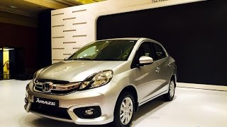 2016 Honda Amaze Facelift Launched, Walkaround Video