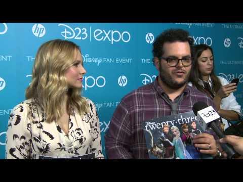 Interviews with the Cast of Disney's Frozen - Kristen Bell, Josh Gad and Idina Menzel - D23 Expo