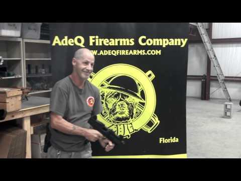 Test Firing of a ASI - MAX-UZI - Blank Firing Machine Gun in the AdeQ Firearms C