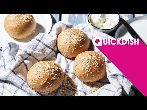 Burger-Brötchen aus Dinkel-Vollkorn