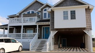 The Outer Banks Beachhouse House Tour | It has a MOVIE THEATER!!