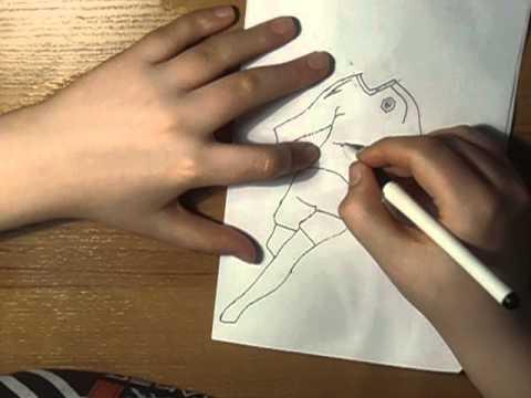 ¬идео как нарисовать футбол