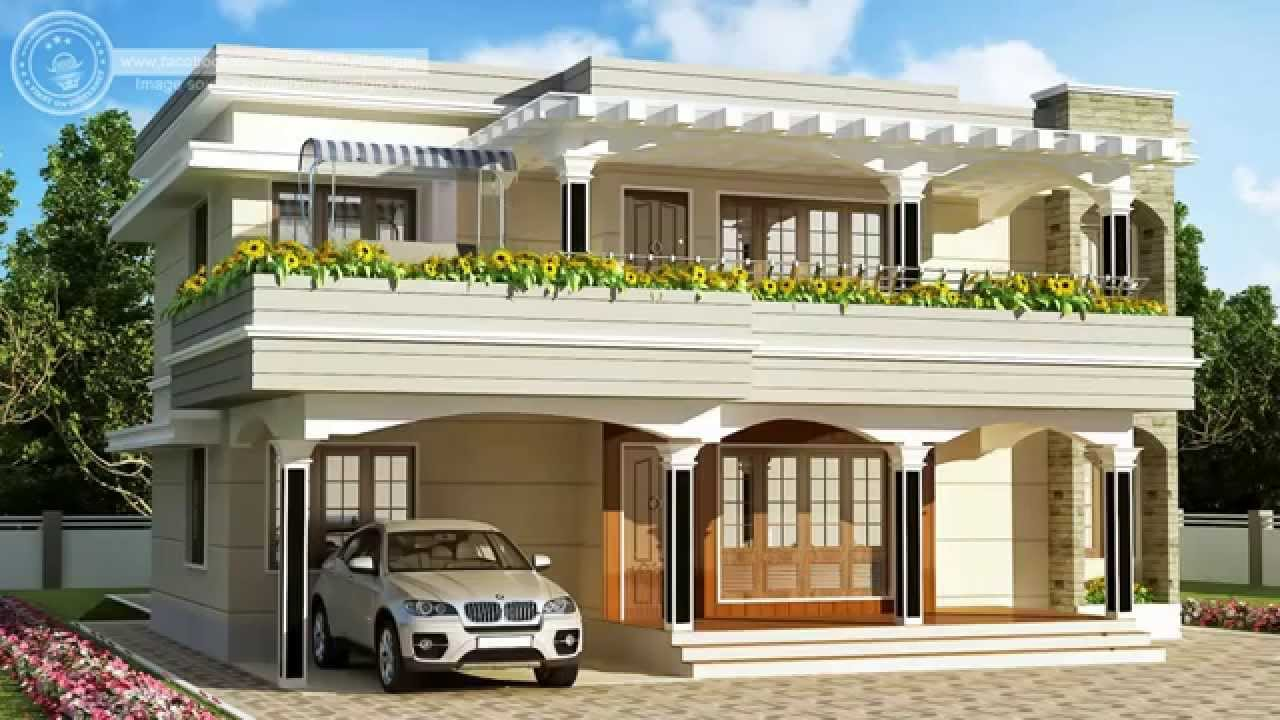 India house plans 3 hd youtube for Indian house portico models