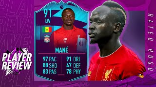 POTM MANE 91 PLAYER REVIEW | FASTEST PLAYER IN FUT? | CRAZY DRIBBLING | FIFA 20 ULTIMATE TEAM