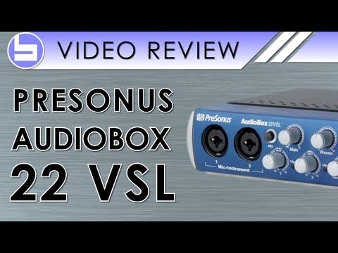 PreSonus AudioBox 22VSL USB Audio Interface Video Review