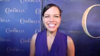 Genelle Williams on the 'Cinderella' red carpet