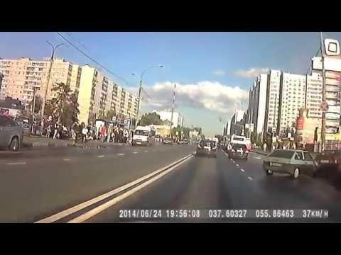 Запись с регистратора 24.06.2014г. Москва, р-н Отрадное