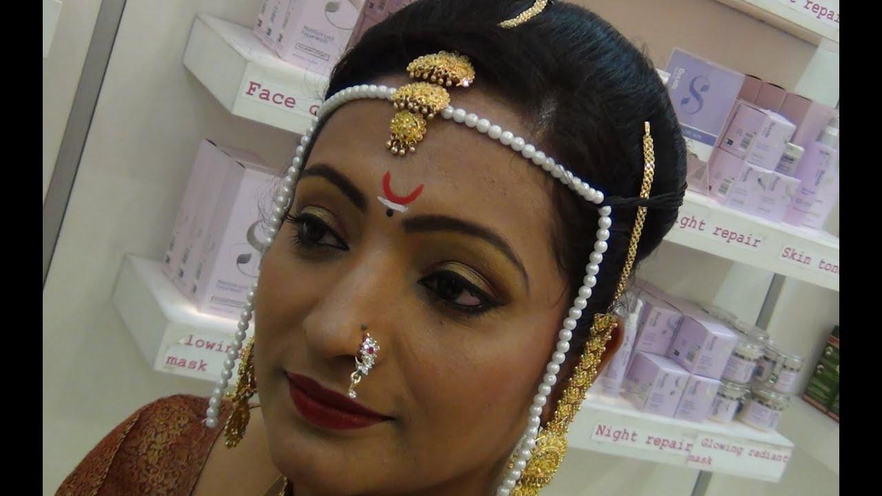Marathi Bridal Makeup And Hairstyle : Marathi bridal makeup tutorial