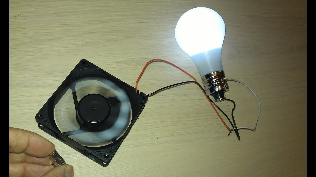 "... fan used as Free Energy Generator ""Free Energy"" light bulb - YouTube"