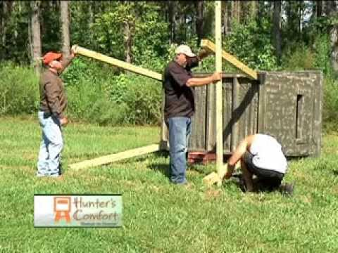How to elevate your hunting blind youtube for How to build a tower stand