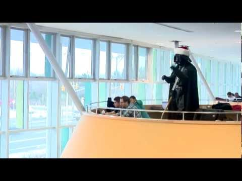 Darth Vader conducts Christmas Choir Flash Mob - Carol of the Bells