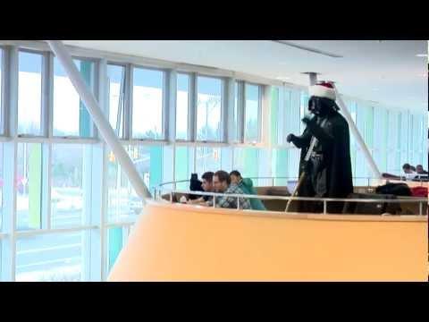 Darth Vader conducts Christmas Choir Flash Mob - Carol of the Bells