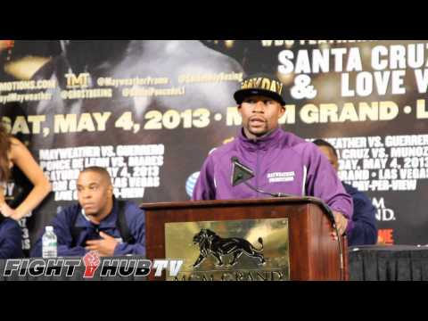 Mayweather vs Guerrero Post Fight Press Conference Highlights HD