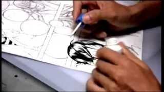 Takeshi Obata dibujando Bakuman (part 2-2)