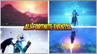 ALL Fortnite Live Events SO FAR (Season 3 - Chapter 2)