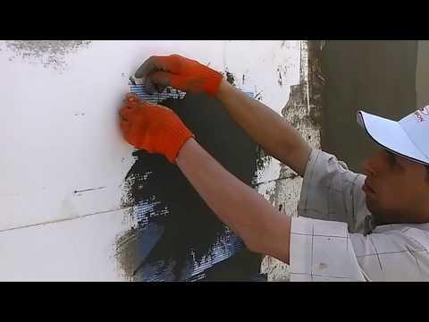 Как правильно вмазать сетку на пенопласт