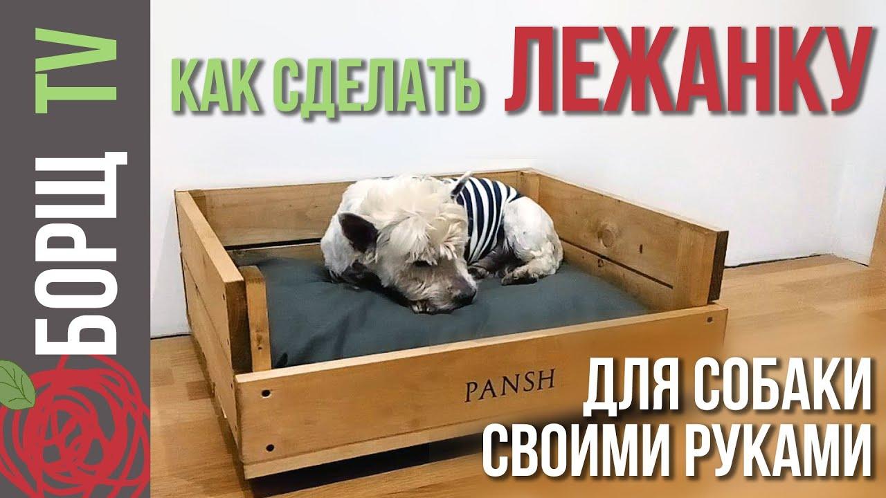 Лежанка из дерева для собаки своими руками