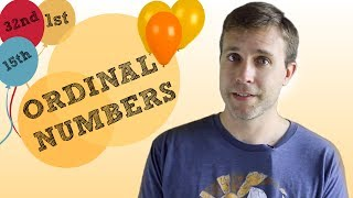 Difficult Numbers for English Learners | ORDINAL NUMBERS