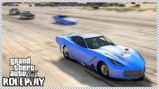 GTA 5 Roleplay - 'INCREDIBLE' C7 Corvette Pro Mod Drag Racing   RedlineRP #353