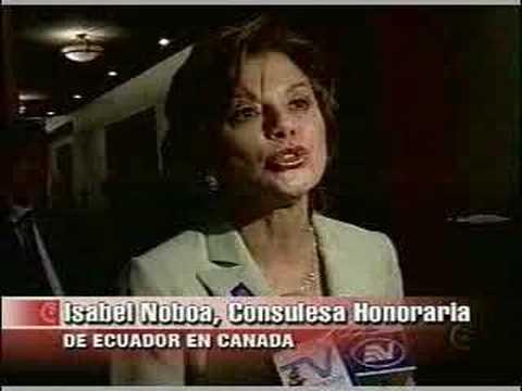 Isabel Noboa consulesa honoraria de Ecuador en Canada