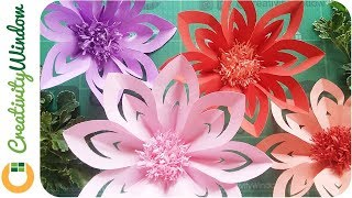 These DIY Paper Flowers are Easy