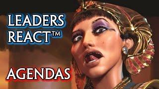 Civilization 6 🌟 All Leaders React Based on their Agenda (Cutscenes)