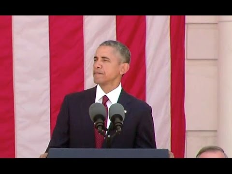 President Obama Delivers Remarks at Arlington National Cemetery