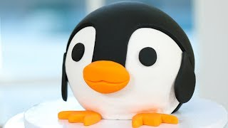 HOW TO MAKE A PENGUIN CAKE ft Zach King - NERDY NUMMIES