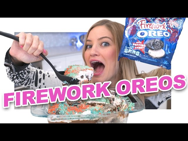 How to Make an Oreo Firework Cake!