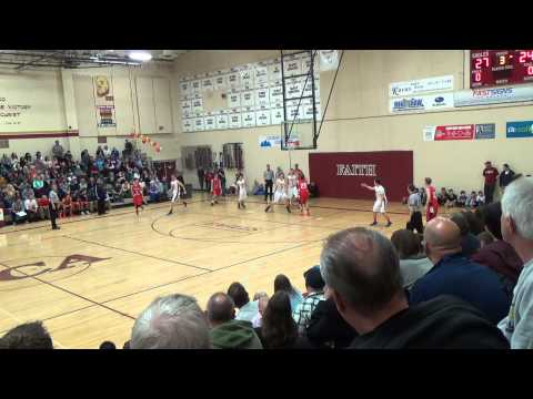 #1 SPENCER BAZZ HIGH SCORER 26 PTS; FAITH CHRISTIAN EAGLES VS COLORADO ACADEMY 1-23-15