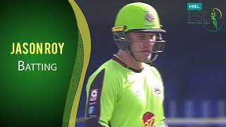 PSL 2017 Match 11: Quetta Gladiators vs Lahore Qalandars - Jason Roy Batting