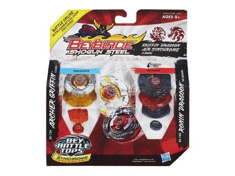 (CLOSED)Beyblade Shogun Steel Griffin Dragoon Air Synchrome 2-Pack Review Unboxing Giveaway